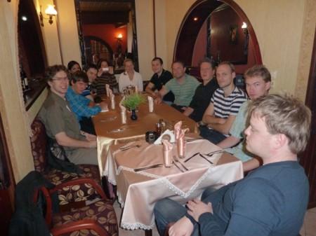 Middag på den lokale restauranten i Plovdiv