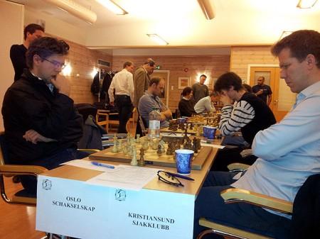 Fra oppgjøret mot Kristiansund i Eliteseriens 1.runde 2012/13