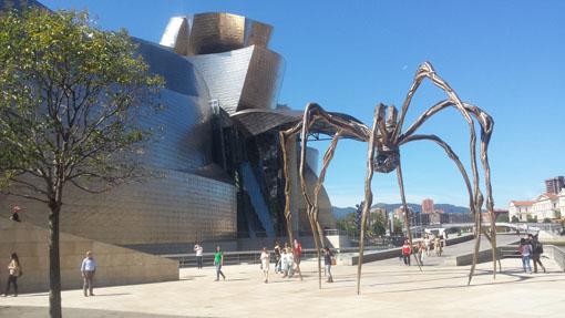 Edderkoppen ved Guggenheim, stedet som kan legge grunnlaget for forberedelser før matchen mot SOCAR. Foto: Tarjei J. Svensen
