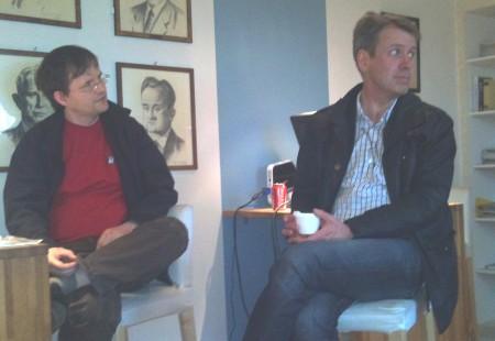 To stolte pappaer, GM Rune Djurhuus og Tormod Claussen på Oslomesterskapet 2011. Foto: Sylvia Johnsen