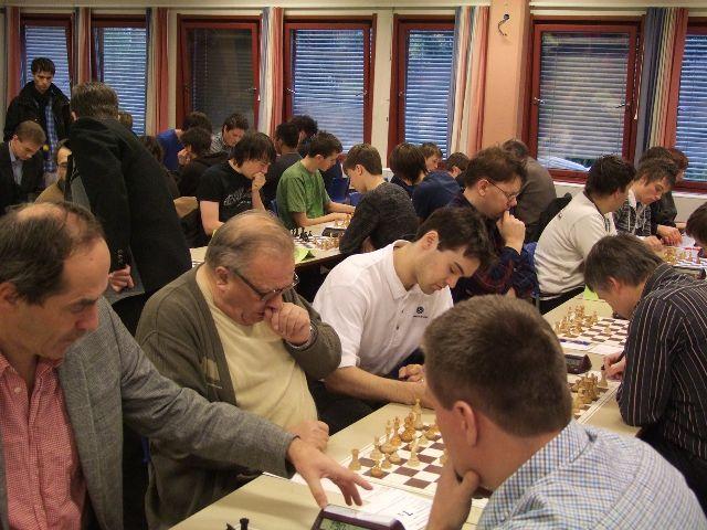 Ole Christian Moen på 1.bord her fra helgens NM for lag. Foto: Hans-Ottar Riiser