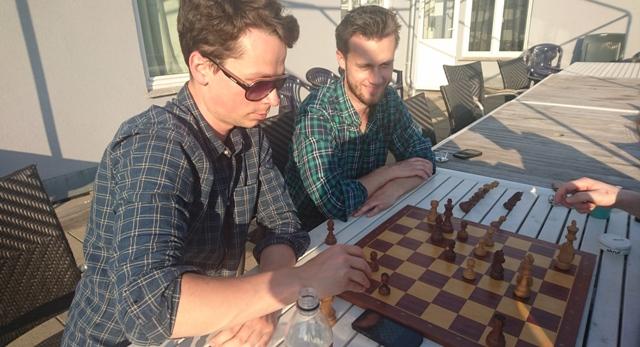 Sjakk på terrassen