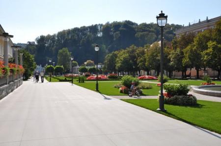 Idylliske omgivelser utenfor spillestedet i Rogaska Slatina