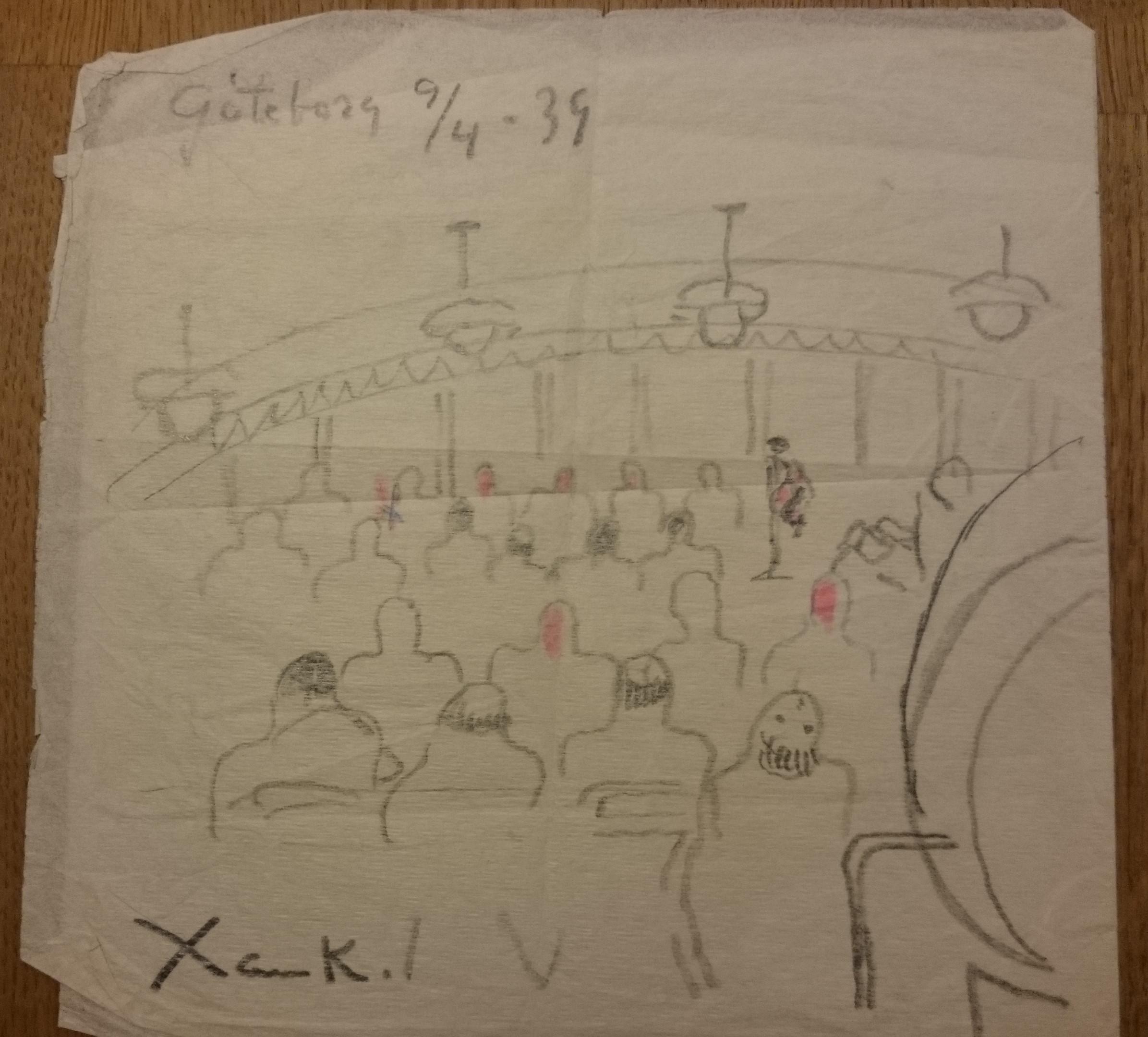 Xan Krohn tegning