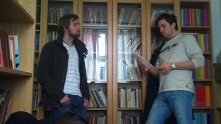 Olav Bakke får råd fra GM Leif Erlend Johannessen (foto: WFM Sylvia Johnsen)