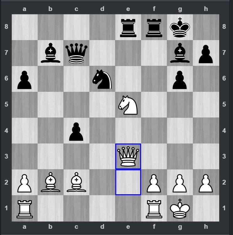 REMISÅPNING: Koordineringen svikter hvit (Mihajlov) og sort (Sandipan) spiller 24--Lxg2 (Foto: Chessbomb)