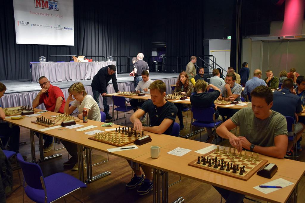 Fra NM for lag. Foto: Tarjei J. Svensen/sjakkbloggen.no