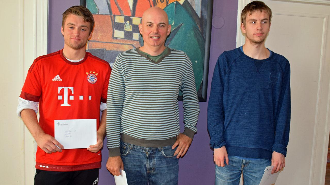 Fra venstre: Joachim B. Nilsen, Atle Grønn og Jens Kjølberg. Foto: Tarjei J. Svensen