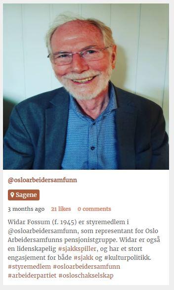 Widar Fossum Tillitsvalgt