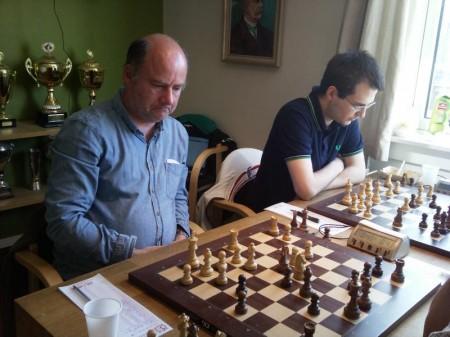 Pål Ole Liabøtrø og Daniel Kovachev i Oslomesterskapet mai 2011. Foto: Tarjei J. Svensen
