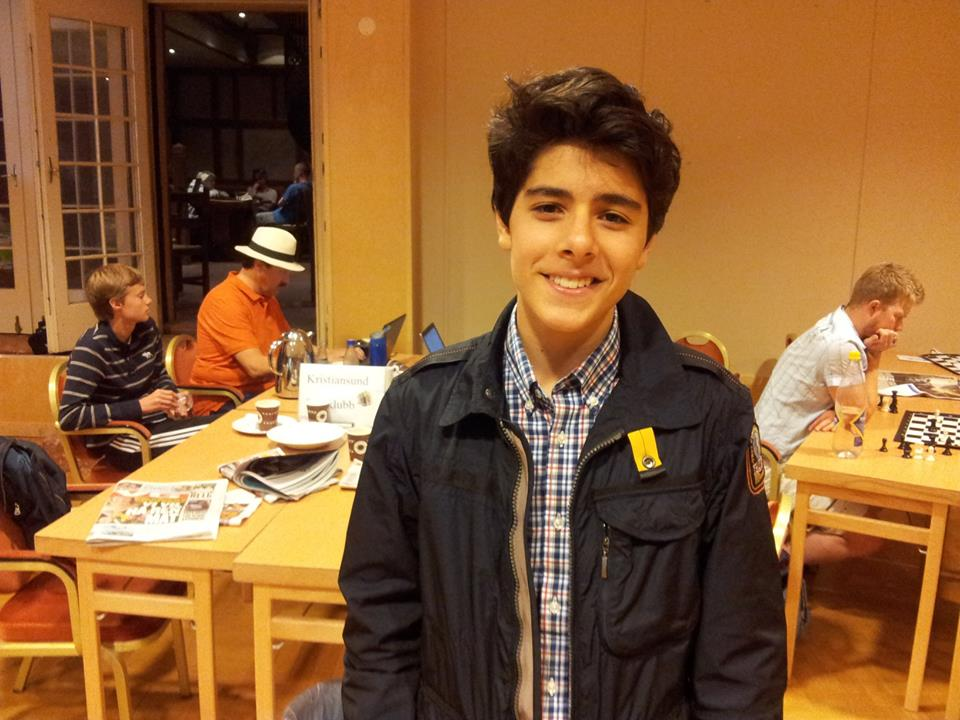 FM Aryan Tari shortly after completing his 3rd and last IM norm, and breaking the required 2400 rating border.