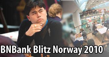 Hikaru Nakamura er det store trekkplasteret til BN Bank Blitz-finalen som nå skal arrangeres i våre lokaler