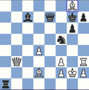 KRITISK STILLING A: 39. Db3 Sf5 40 Lxf7 Kg7 41, Th3 De7! 42. Lg8