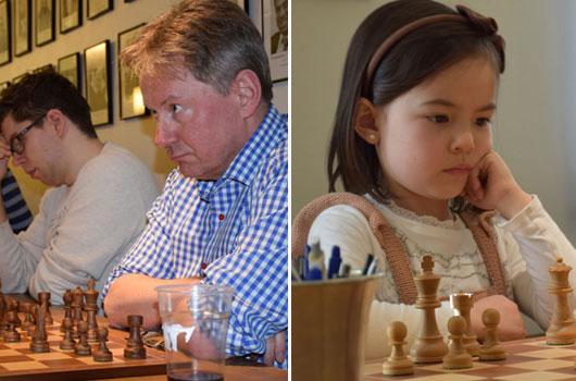 Roar Elseth må finne seg i å dele oppmerksomheten med 6-årige Lykke-Merlot Helliesen. Foto: Tarjei J. Svensen