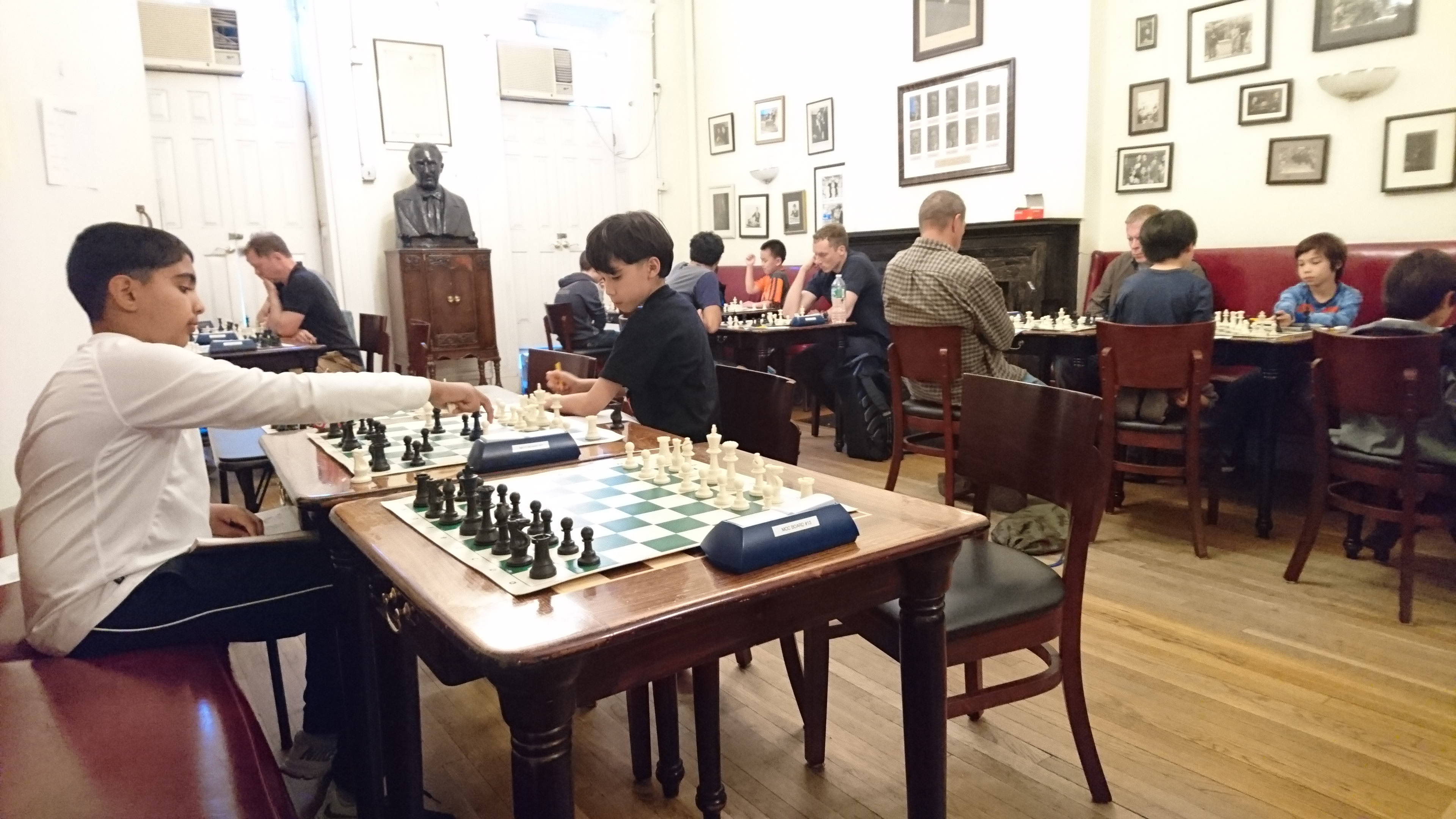 Marshall Chess Club i Greenwich Village.