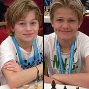 Sebastian Mihajlov og Lars Oskar Hauge i EM for ungdom, Albena Bulgaria 2011