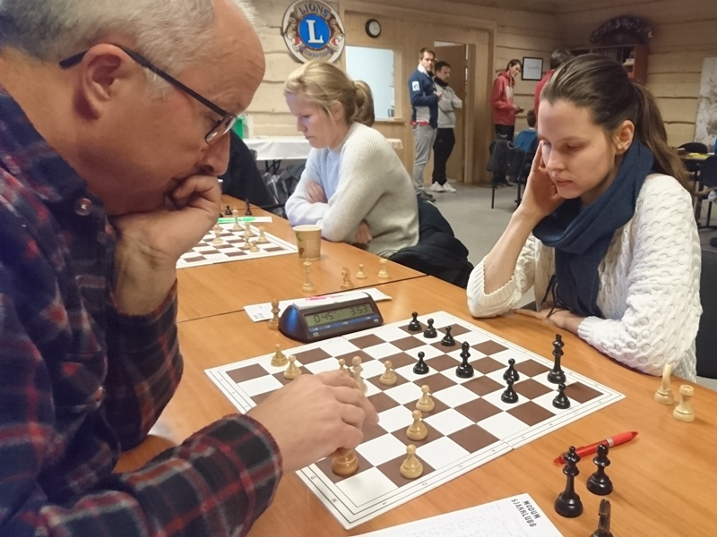 SOLID: Maria Edakina stilte på kort varsel og sikret remis etter en lang pause fra sjakk. (foto: Sylvia Johnsen)