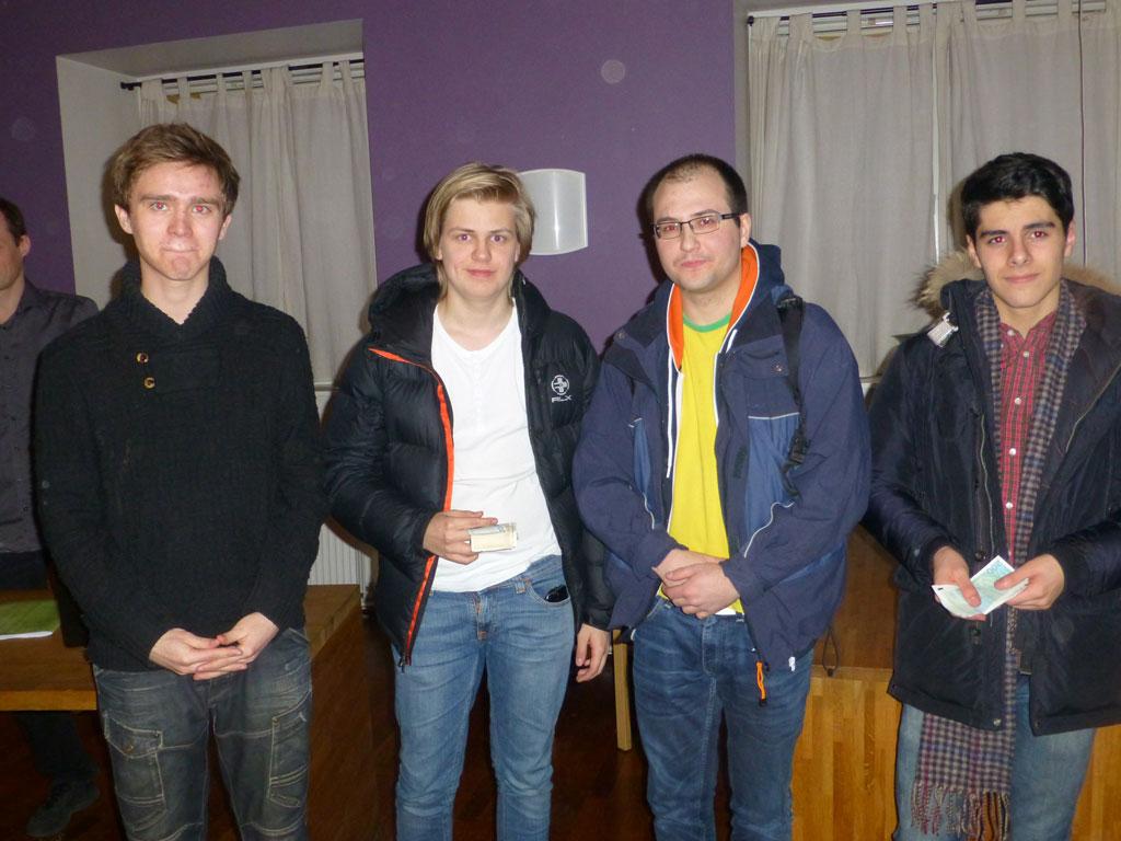 Topp 4 i Nortekk Superlyn: Benjamin Arvola, Lars Oskar Hauge, Daniel Kovachev og Aryan Tari. Foto: Tarjei J. Svensen