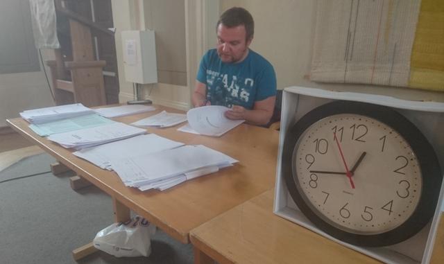Tiden renner fort på eksamen